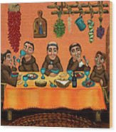 San Pascuals Table Wood Print by Victoria De Almeida