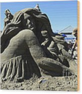 Sand Sculpture 1 Wood Print by Bob Christopher