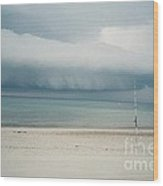 Sandy Neck Beach Sandwich Wood Print by Lisa  Marie Germaine