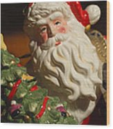 Santa Claus - Antique Ornament - 10 Wood Print by Jill Reger