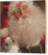 Santa Claus - Antique Ornament - 11 Wood Print by Jill Reger