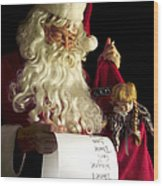 Santa Claus Wood Print by Diane Diederich
