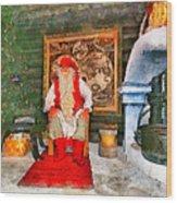 Santa Claus Wood Print by George Rossidis