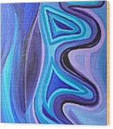 Sapphire Passion - Luminescent Light Wood Print by Daina White