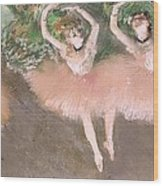 Scene De Ballet Wood Print by Edgar Degas