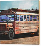 School Bus 5d24927 Wood Print by Wingsdomain Art and Photography