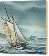 Schooner Voyager Wood Print by James Williamson