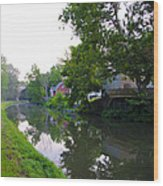 Schuylkill Canal Mont Clare Wood Print by Bill Cannon