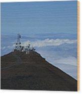 Science City Haleakala Wood Print by Sharon Mau