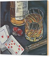 Scotch And Cigars 4 Wood Print by Debbie DeWitt