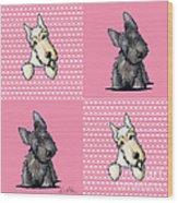Scottish Quilt Wood Print by Kim Niles