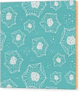 Sea Flower Wood Print by Susan Claire