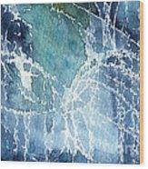 Sea Spray Wood Print by Linda Woods