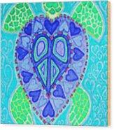 Sea Turtle Swim Wood Print by Nick Gustafson