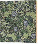 Seaweed Wallpaper Design Wood Print by William Morris