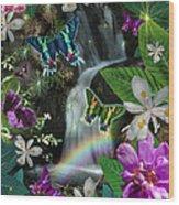 Secret Butterfly Wood Print by Alixandra Mullins