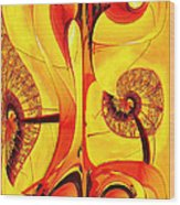 Seedlings Wood Print by Wendy J St Christopher