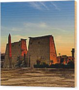 Seeking The Ancient Ruins Of Thebes In Luxor Wood Print by Mark E Tisdale