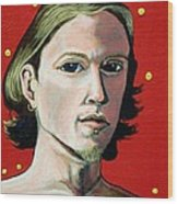 Self Portrait 1995 Wood Print by Feile Case