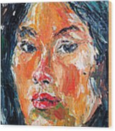 Self Portrait 2013 -3 Wood Print by Becky Kim
