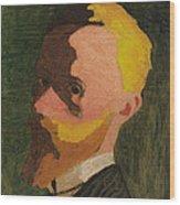 Self Portrait Wood Print by Edouard Vuillard