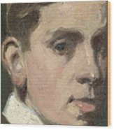 Self Portrait Wood Print by Francis Campbell Boileau Cadell