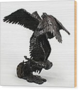 Seraph Angel A Religious Bronze Sculpture By Adam Long Wood Print by Adam Long