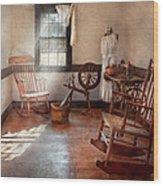 Sewing - Room - Grandma's Sewing Room Wood Print by Mike Savad