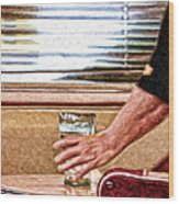 She Works Hard For The Money Wood Print by Lois Bryan