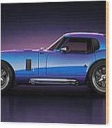 Shelby Daytona - Velocity Wood Print by Marc Orphanos