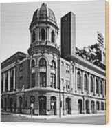 Shibe Park In Black And White Wood Print by Bill Cannon