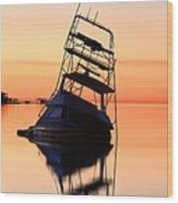 Shipwrecked In Navarre Wood Print by JC Findley