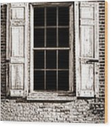 Shutters Wood Print by Olivier Le Queinec