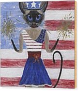 Siamese Queen Of The U S A Wood Print by Jamie Frier