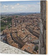 Siena From Above Wood Print by Al Hurley