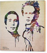 Simon And Garfunkel Wood Print by Aged Pixel