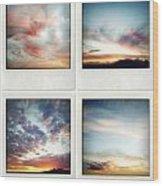 Skies Wood Print by Les Cunliffe