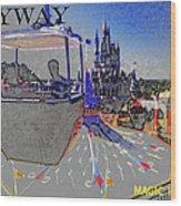 Skway Magic Kingdom Wood Print by David Lee Thompson