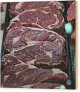 Slabs Of Raw Meat - 5d20691 Wood Print by Wingsdomain Art and Photography