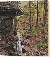 Slate Bottom Creek Wood Print by Benjamin Yeager