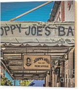 Sloppy Joe's Bar Canopy Key West - Hdr Style Wood Print by Ian Monk