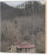 Smoky Mountain Barn 1 Wood Print by Douglas Barnett