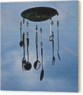 Smoky Mountain Windchime Wood Print by Christi Kraft