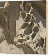 Snadstone Rock Formations In Big Sur Wood Print by Artist and Photographer Laura Wrede