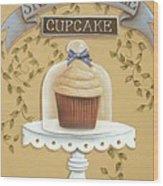 Snickerdoodle Cupcake Wood Print by Catherine Holman