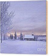 Snow Day Wood Print by Kristal Kraft