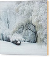 Snow Dream Wood Print by Julie Palencia