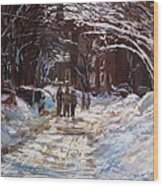 Snow In The City Wood Print by Jack Skinner