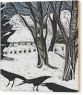 Snow Noise Wood Print by Grace Keown