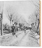 Snow Scene At Etten Wood Print by Vincent van Gogh